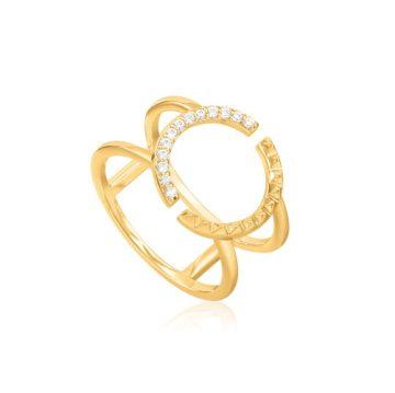 Ania Haie Spike Double gyűrű R025-01G