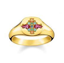 Thomas Sabo Színes Kövek Gyűrű TR2231-996-7
