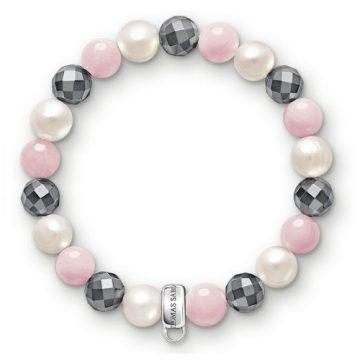 """Thomas Sabo """"rózsaszín, fehér, szürke"""" női charm karkötő X0188-581-7"""