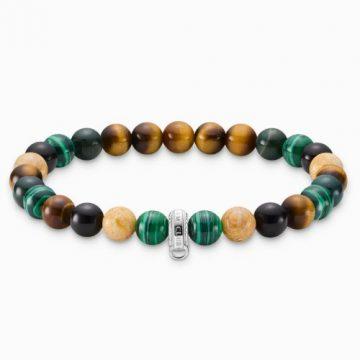 "Thomas Sabo ""barna, zöld, fehér"" női charm karkötő X0217-947-7"
