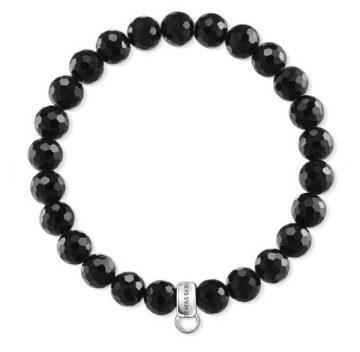 """Thomas Sabo """"fényes fekete"""" női charm karkötő X0220-840-11"""