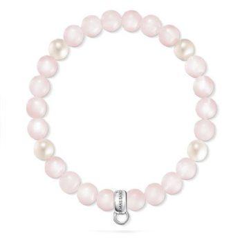 """Thomas Sabo """"rózsaszín, fehér"""" női charm karkötő X0222-469-9"""